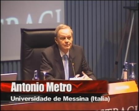 Antonio Metro, catedrático de dereito romano da universidade de Messina (Italia) - Xornadas sobre a administración cidada: Interese histórico e a súa proxección no dereito actual